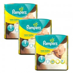 Pampers - Pack 69 Couches new baby - premium protection taille 1