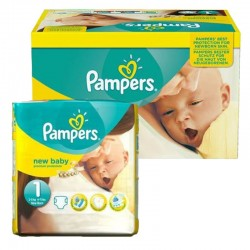Pampers - Maxi Giga pack 92 Couches new baby - premium protection taille 1
