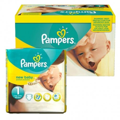 Pampers - Maxi Giga pack 92 Couches new baby - premium protection taille 1 sur Les Couches