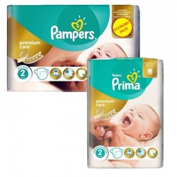 Pampers - Pack 114 Couches new baby - premium protection taille 2