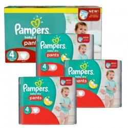 Pampers - Maxi Pack 376 Couches Baby Dry Pants taille 4