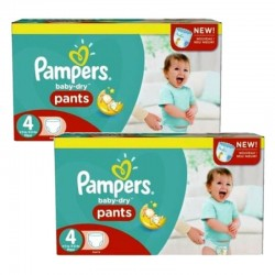 Pampers - pack Jumeaux 564 Couches Baby Dry Pants taille 4 sur Les Couches