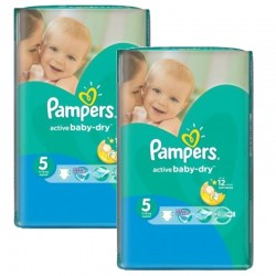 Giga Pack 176 couches Pampers Active Baby Dry sur Les Couches