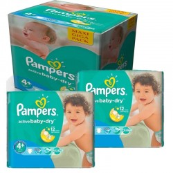 Giga Pack 280 Couches Pampers Active Baby Dry sur Les Couches