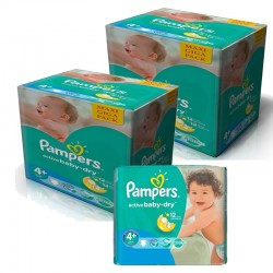 Pack Jumeaux 420 Couches Pampers Active Baby Dry sur Les Couches
