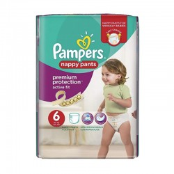 Pack 16 couches Pampers Active Fit Pants