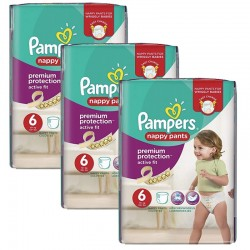 Pack 64 couches Pampers Active Fit Pants sur Les Couches