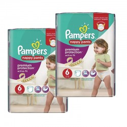 Pack 28 couches Pampers Active Fit Pants sur Les Couches