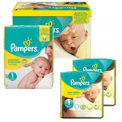 Pampers - Maxi Pack 192 Couches new baby - premium protection taille 1