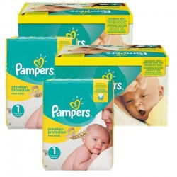 Pampers - Mega Pack 384 Couches new baby - premium protection taille 1