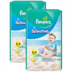 Giga Pack 36 Couches de Bain Pampers SPLASHERS sur Les Couches