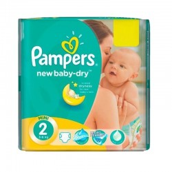 Pampers - Pack 43 Couches New Baby Dry taille 2 sur Les Couches