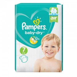 Pampers - Pack 72 Couches Baby Dry taille 7 sur Les Couches