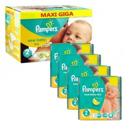 Pampers - Maxi Pack 301 Couches New Baby Dry taille 2