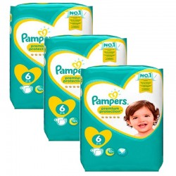 Pampers - Giga Pack 148 Couches New Baby Premium Protection taille 6 sur Les Couches