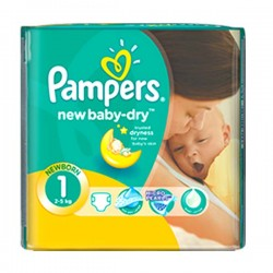 LesCouches Pack 43 couches Pampers New Baby Dry