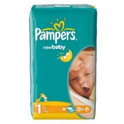 Pampers - 43 Couches New Baby Dry taille 1