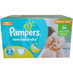 Pampers - Maxi giga pack 344 Couches New Baby Dry sur Les Couches