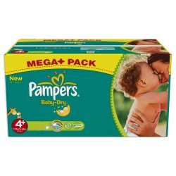 Pampers - Giga pack 287 Couches Baby Dry taille 4+ sur Les Couches