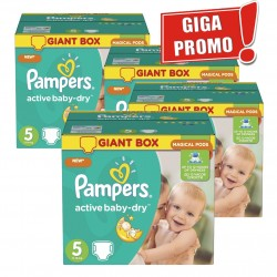 Pampers - Mega pack 174 Couches Active Baby Dry sur Les Couches