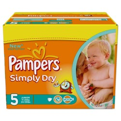 Pampers - 352 Couches Simply Dry taille 5 sur Les Couches