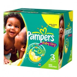 Pampers - 136 Couches Baby Dry taille 3