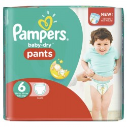 Pampers - Pack 58 Couches Baby Dry Pants taille 6 sur Les Couches