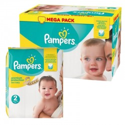 Pampers - Pack 62 Couches New Baby Premium Protection taille 2 sur Les Couches