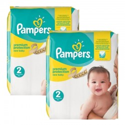 Pampers - Maxi mega pack 434 Couches New Baby Premium Protection taille 2 sur Les Couches