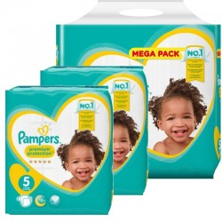Pampers - Maxi giga pack 330 Couches New Baby Premium Protection taille 5 sur Les Couches