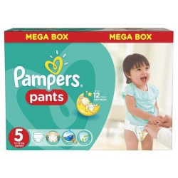 Pampers - Pack 66 Couches Baby Dry Pants taille 5 sur Les Couches