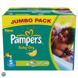 Pampers - Pack 88 Couches Baby Dry taille 5 sur Les Couches