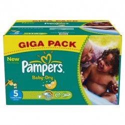 Pampers - Mega pack 110 Couches Baby Dry taille 5 sur Les Couches