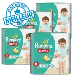 Pampers - Mega pack Mega pack Couches Baby Dry Pants taille 6 sur Les Couches