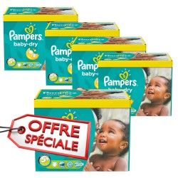 Pampers - Mega pack 112 Couches Baby Dry taille 5+ sur Les Couches
