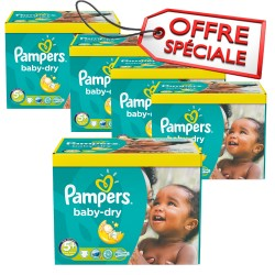 Pampers - Mega pack 196 Couches Baby Dry taille 5+ sur Les Couches