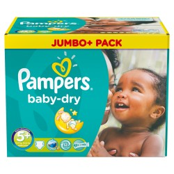 Pampers - Maxi giga pack 336 Couches Baby Dry taille 5+ sur Les Couches