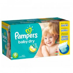 LesCouches Giga Pack 124 couches Pampers Baby Dry